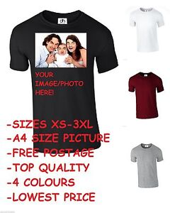 2177e637339f Image is loading CUSTOM-PRINTED-PERSONALISED-T-SHIRTS-TEE-SHIRT-DESIGN-