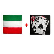 Coppia polsini italia + carte da gioco in spugna gruppi rock e bandiere
