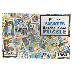 Details About New York Yankees 1983 Topps Cards Team Puzzle Souvenir In Sealed Gift Box