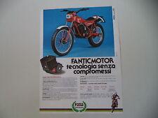 advertising Pubblicità 1982 MOTO FANTIC TRIAL PROFESSIONAL 240