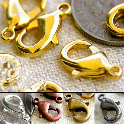 10mm 12mm Brass Lobster Clasp Claw Finding m74 8pcs
