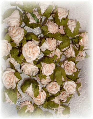 200 Streurosen 1,5cm CHAMPAGNER Floristik Rosenblüten Rosen Rosenköpfe
