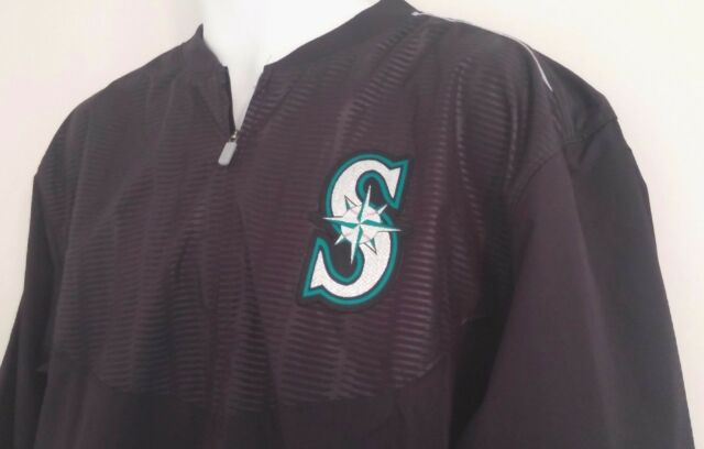 SEATTLE MARINERS Jacket - Navy Blue Training Style Half-Zip ($102 Retail) - XL