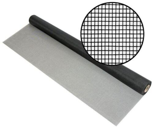 "48/""x100/' Fiberglass Charcoal Mesh Screen Porch Window Door Insect Protection New"