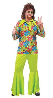 Mens costume de hippie Groovy années 60 années 70 Déguisements Costume adulte Hippie Woodstock XL