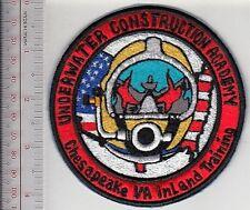 SCUBA Hard Hat Diving Virginia Underwater Construction Academy Chesapeake,VA red