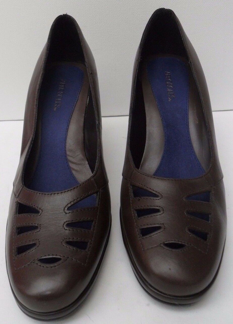 Womens Aerosoles Brown Leather Mid Heel Shoes - Size UK 5.5