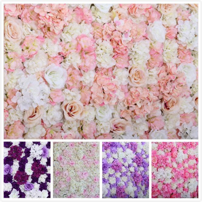 10x Fleur Artificielle Mur Rosehydrangea Mur Artificielle Panneau