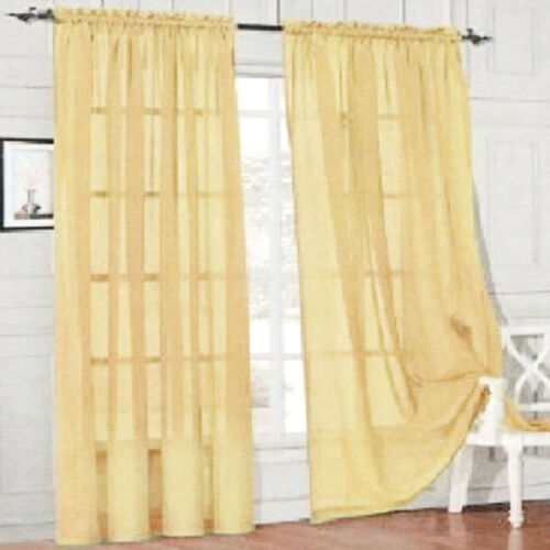 7 Colors Tulle Sheer Voile Window Curtain Drapes Home Hotel Bedroom Decoration