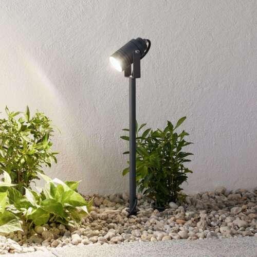 Außenstrahler Galina Erdspieß Außenleuchte Garten Dunkelgrau Lampenwelt Leuchte