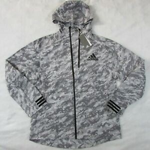 Adidas-Reflective-Gray-Snow-Camo-Track-ID-Jacket-Hoodie-EI7462-Men-039-s-Medium