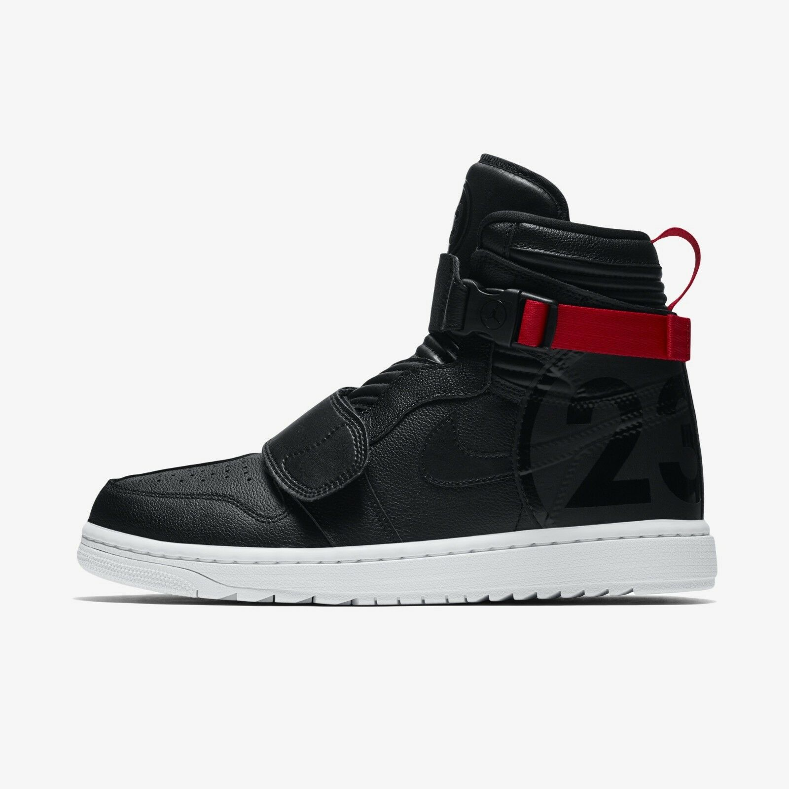 Nike Air JOrdan 1 MOTO Basketball shoes Sneakers- Black Gym Red(AT3146-001)