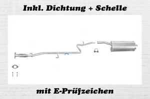 Endschalldämpfer Fiat Doblo Cargo 1.2 Auspuff Endtopf Nachschalldämpfer Schelle