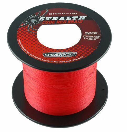 SPIDERWIRE STEALTH codice rosso 600m Bobina di filo intrecciato ROSSO Norvegia salzwater