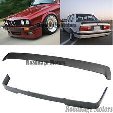 85-91 BMW E30 3-SERIES Front Bumper Lip + B Trunk Spoiler Wing 318 320 323i 325i