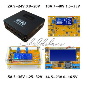 2A 3A 5A 10A Adjustable Step-down Power Supply Voltage Current LCD Display+Case