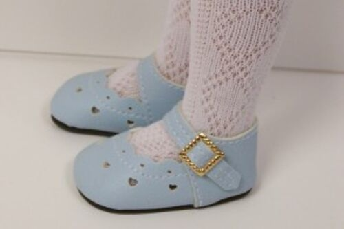 """Light BLUE Heart Doll Shoes For Tonner 14/"""" Betsy McCall LT Debs"""