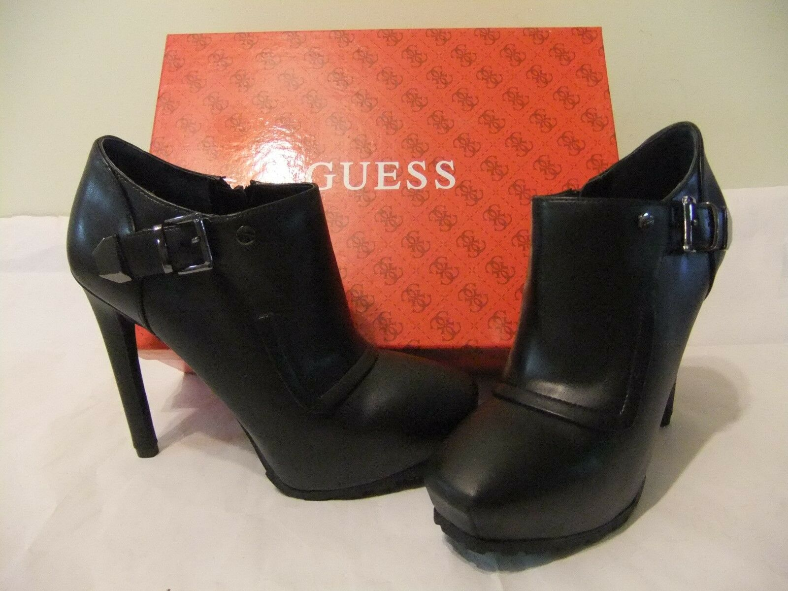 GUESS Indraz Black Leather Shootie Bootie Heel Ankle Size Size Ankle 10 NIB $140 b8db07