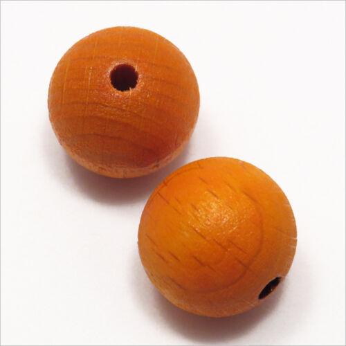 Pack von 20 Rundholzperlen 16mm Orange
