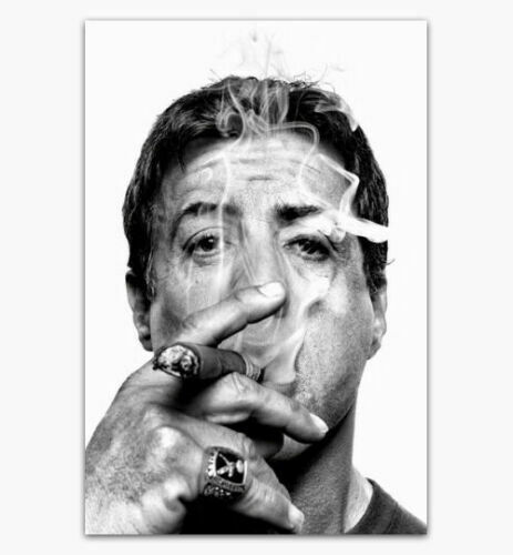 W225 Sylvester Stallone Smoking Cigar Movie Star Poster canvas decor 12 24x36in