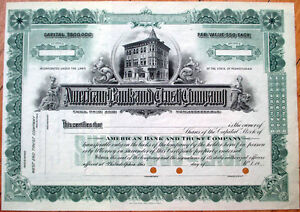 1920-Stock-Certificate-039-American-Bank-amp-Trust-Company-Philadelphia-PA-039