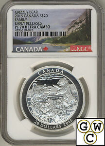 2015-Grizzly-Bear-Family-Proof-20-Silver-Coin-1oz-NGC-PF70-9999-Fine-17545-NT
