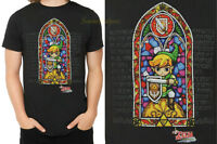 The Legend Of Zelda the Wind Waker Nintendo Adults Stained Glass T-shirt