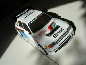Carrozzeria-body-RC-scala-1-10-Peugeot-205-GTI-RALLY-TOURING-ALETTONE