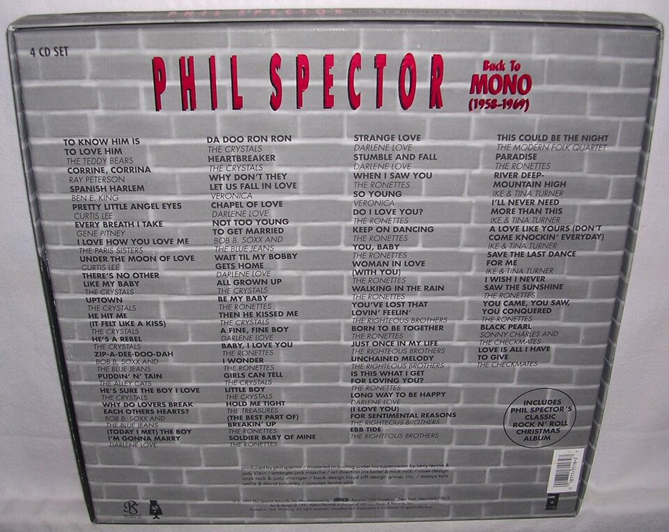 Phil Spector: Back To Mono (1958-1969, pop