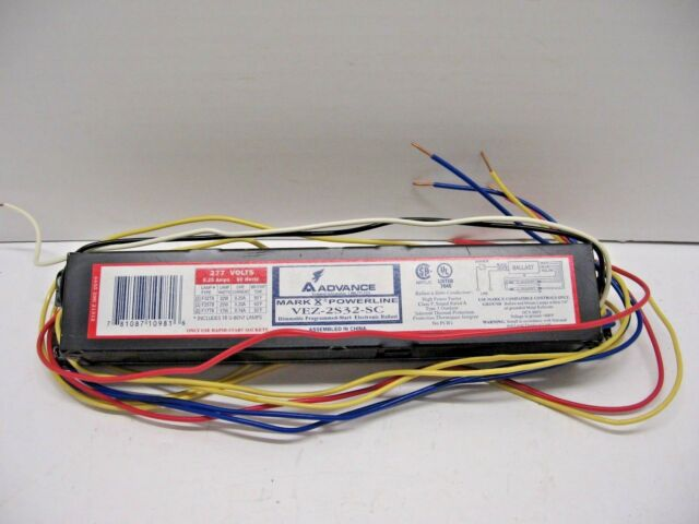 Advance VEZ-2S32-SC Mark X Powerline Dimmable Electronic Ballast 277 Volts