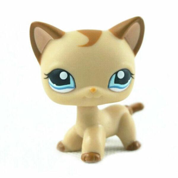 LPS Toy LPSs Tan Brown Heart Face Short Hair Cat Toys Rare N//N Littlest Pet Shop