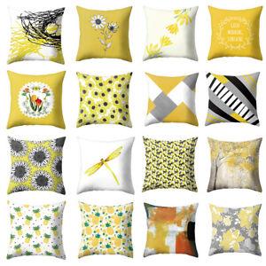 Am-KM-Yellow-Series-Flower-Geometric-Throw-Pillow-Case-Cushion-Cover-Home-Deco