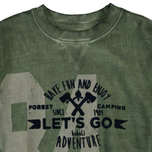 Boboli Neu schickes Shirt Sweatshirt Taschen Hoody Gr 116 128 140 152  514156