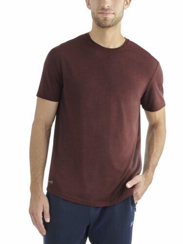 XL Russell Men/'s Maroon Red Short Sleeve Performance Dri-Fit Tee T-Shirts