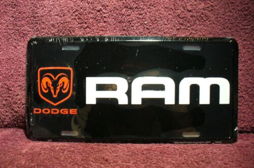 NEW DODGE RAM LICENSE PLATE DISPLAY SIGN GARAGE MAN CAVE 4X4 TRUCK ACCESSORY