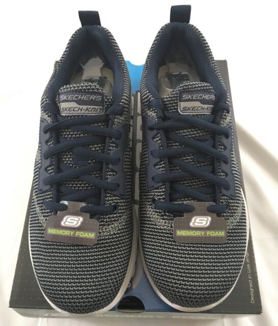 1b7bc82c66f9 Skechers Sport Men s Shoes Kulow Memory Foam Knitted 52882 Navy Blue Size  6.5