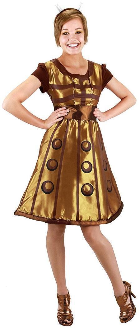 Doctor Dr. Who - Dalek Alien Mutant Fancy Dress Up Halloween Costume For Adult Women
