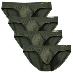 Herren-Slip-4er-Pack-Sexy-T-back-Retroshort-Bequeme-Pouch-Schluepfer-Unterhose