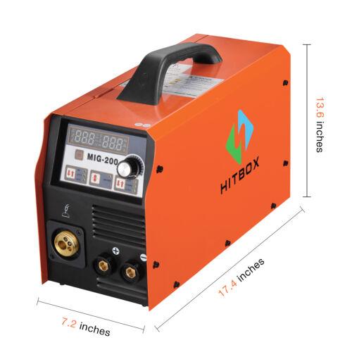 HITBOX 3in 1 MIG Welder 200A 220V MAG Gas Gasless Lift TIG Stick Welding Machine