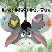 Disney Parks Winnie The Pooh eeyore Mickey Ear Hat Christmas Ornament (new)