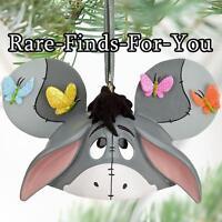 Disney Parks Winnie The Pooh eeyore Mickey Ear Hat Christmas Ornament (new)
