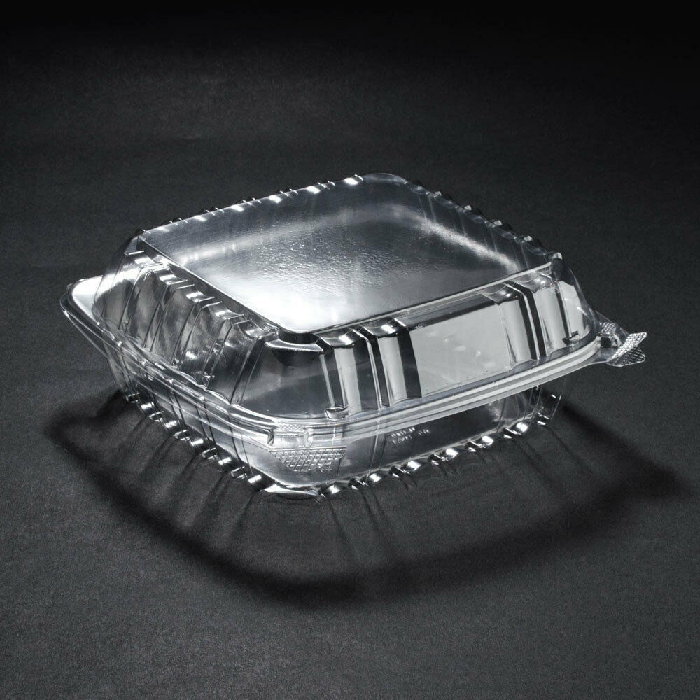 250 Dart Solo 2000cc Clear Deep Plastic Salad Container C90PST1 Seal Hinged