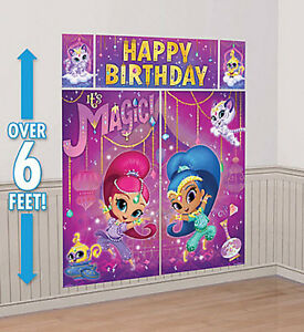 Shimmer Shine Scene Setter Happy Birthday Party Wall Photo