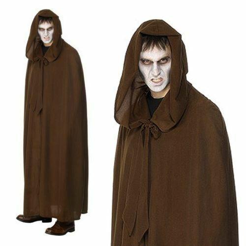 Gravekeeper Cloak Grim Reaper Horror Cosplay Mens Halloween Fancy Dress Costume