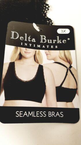 44DD Adjustable Straps Black//Pink Delta Burke Seamless Bra 3X 42D