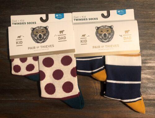8yr 2 Twinsies Sock Set NEW Pair of Thieves Dad /& Kid Men Sz 8-12 /& Kid M 4yr