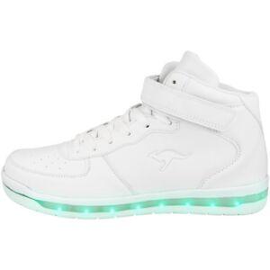Glorieux Kangaroos K-lid Chaussures Del High Top Sneaker White K-lab K-lev Hi 18121-0000-afficher Le Titre D'origine