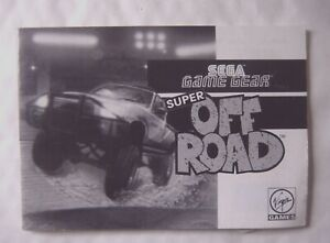 61867 Instruction Booklet-super Off Road-sega Game Gear (1992)-afficher Le Titre D'origine Chaud Et Coupe-Vent