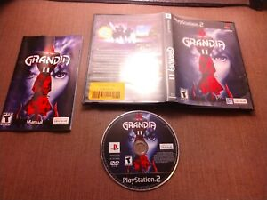 Sony-PlayStation-2-PS2-CIB-Complete-Tested-Grandia-II-2-Ships-Fast