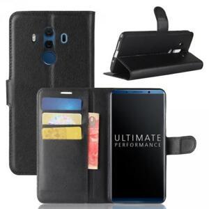 Huawei-Mate-10-Pro-Custodia-a-Portafoglio-Protettiva-wallet-Cover-Case-Nero